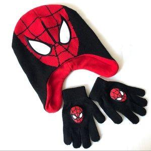 Spider-Man hat and gloves